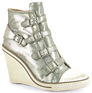 Ash Thelma Leather - Leather Wedge Sneaker
