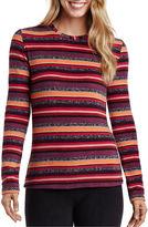 Cuddl Duds Fleecewear Long-Sleeve Crewneck Shirt