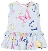 MonnaLisa Blue Butterfly Print Jersey Dress