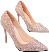 Yinhan YH Women's Rhinestone Pointy Stiletto High Heels Pumps Shoes
