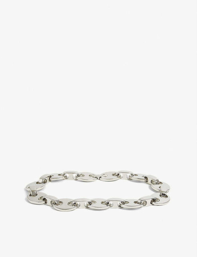Paco Rabanne Eight silver-tone chunky necklace