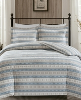 Woolrich Nordic Snowflake 3-Pc. Cotton Flannel Queen Comforter Mini Set