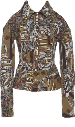 Thierry Mugler Patchwork Tapestry Corset Twill Jacket