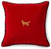 Ralph Lauren Cody Embroidered Golden Retriever Pillow