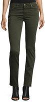 AG Adriano Goldschmied Prima Mid-Rise Cigarette Jeans, Dark Moss