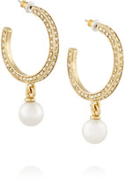 Oscar de la Renta Gold-plated, Faux Pearl And Crystal Earrings - one size