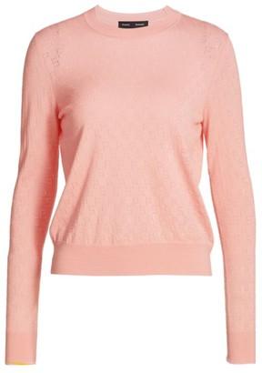 Proenza Schouler Merino Wool Pointelle Knit Sweater