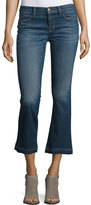 J Brand Jeans Selena Cropped Boot-Cut Jeans, Blue