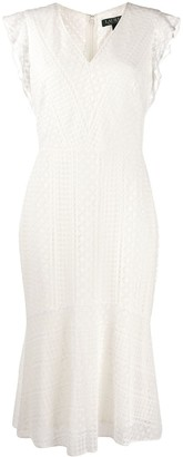 Polo Ralph Lauren embroidered V-neck dress