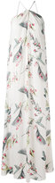 Cacharel tropical print maxi dress - women - Silk/Spandex/Elastane - 40