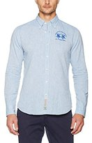 La Martina Men's Long Sleeve Cotton/Linen Casual Shirt