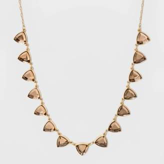 A New Day Triangle Stone Frontal Collar Necklace