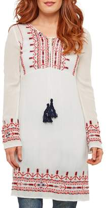 Joe Browns Embroidered Peasant Dress with Long Sleeves