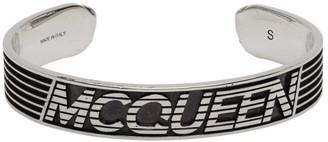 Alexander McQueen Silver Logo Bracelet