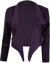 Hanger Hanger Women's Open Cropped Shrug Bolero Blazer Jacket