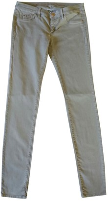 Gas Jeans Grey Cotton Trousers for Women