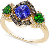 LeVian Le Vian Chocolatier® Neo GeoTM Multi-Gemstone (1-1/2 ct. t.w.) and Diamond (1/3 ct. t.w.) Ring in 14k Gold, Only at Macy's