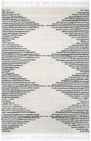 "nuLoom Striped Shag Area Rug, Off White, 5'3""x7'7"""