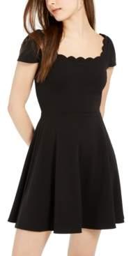 B. Darlin Juniors' Scalloped Skater Dress, Created for Macy's