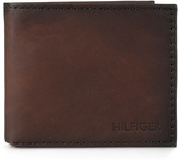 Tommy Hilfiger Brown Passcase Leather Bifold Wallet