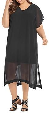 Thumbnail for your product : Karen Kane V-Neck Side-Slit Dress