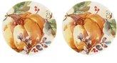 Southern Living 2-Piece Harvest Pumpkin Accent Plate Set