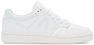 New Balance White 480 Sneakers