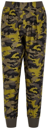 ATM Anthony Thomas Melillo Green camouflage-print silk sweatpants