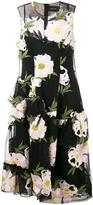 Simone Rocha floral embroidered dress - women - Cotton/Nylon/Polyester/Viscose - 8