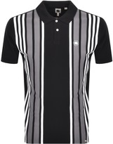 Pretty Green Walsh Stripe Polo T Shirt Black