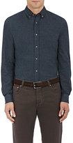 Brunello Cucinelli Men's Cotton Leisure-Fit Shirt-DARK GREY
