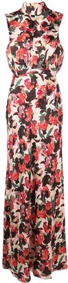 Saloni Dawn Moonflower floral gown