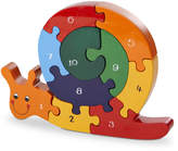 Wood Like To Play Handmade Wooden Number Snail Puzzle