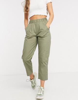 Only Anja elasticated pants in khaki