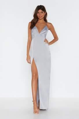 Nasty Gal Womens Look At You Satin Maxi Dress - Beige - 8, Beige