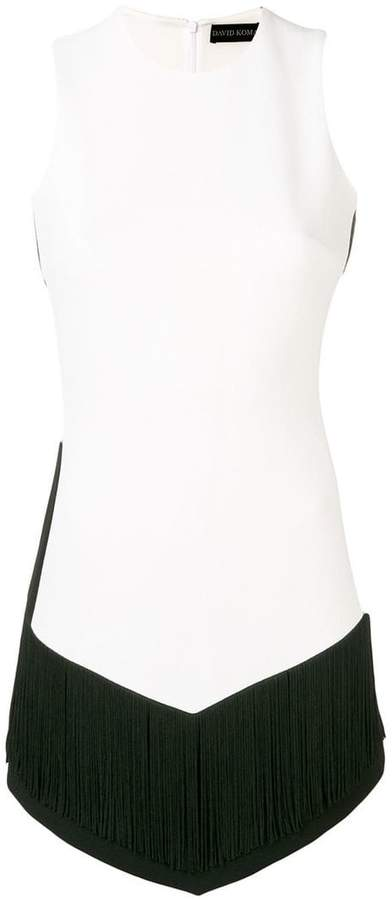 David Koma colour block mini dress