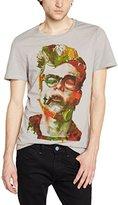 Red Soul Redsoul Men's Asymmetric Printed Short sleeve T-Shirt - -