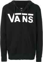 Vans logo print zip hoodie