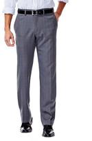 Haggar Repreve Stretch Heathered Plaid Dress Pants, Slim Fit, Flat Front, Flex Waist