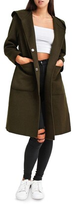 Belle & Bloom Walk This way Military Wool blend Oversized Coat