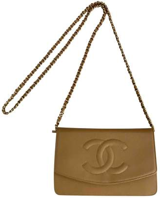Chanel Wallet on Chain Camel Leather Handbags