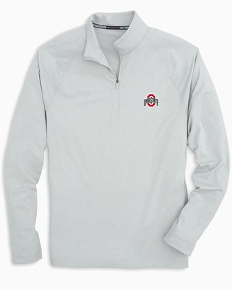 Southern Tide Ohio State Buckeyes Lightweight Quarter Zip Pullover