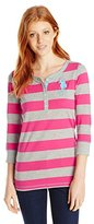 U.S. Polo Assn. Junior's 3/4 Sleeve Striped Cotton Jersey T-Shirt