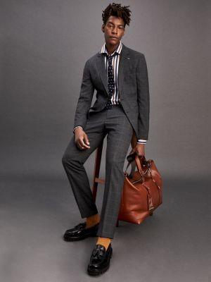 Tommy Hilfiger Wool Blend Slim Fit Check Suit