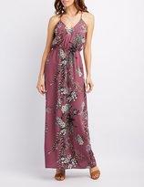 Charlotte Russe Floral Crisscross Maxi Dress