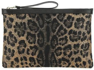 Dolce & Gabbana Leopard Print Pouch
