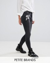 New Look Petite Embroidered Skinny Jean