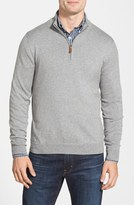 Nordstrom Half Zip Cotton & Cashmere Pullover (Regular & Tall)