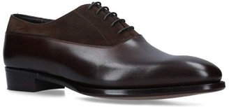 George Cleverley Suede-Leather David Oxford Shoes