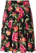 Dolce & Gabbana floral print pleated skirt - women - Silk/Spandex/Elastane - 38